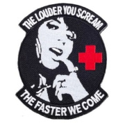 """Matrix PVC hook and loop IFF Patch - """"Scream Faster"""" Medic Morale Patch"""