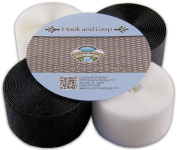 Country Brook Deisgn® 5.1cm 3 Yards Black Sew on Hook and Loop & 3 Yards White Sew on Hook and Loop