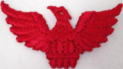 50 Red Spread Wing Eagle Phoenix Iron On Patch