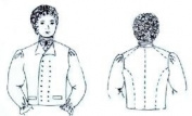 1790 - 1820 Double Breasted Waistcoat Pattern
