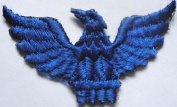 50 Royal Blue Spread Wing Eagle Phoenix Iron On Patch