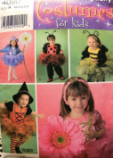 Simplicity 4090 Toddler Tutu Costumes Pattern Size 1/2,2,3,4 Bumble Bee, Lady Bug, Witch, Princess, Flower