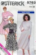 Butterick Pattern 5763 ~ Misses' Dress ~ 8-10-12