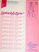 Stretch & Sew 420 Misses Box Pleated Skirt Sewing Pattern Hip Size 30-32-34-36-38-40-42-44-46 Vintage 1970s