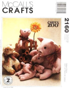 McCall's 2160 Carol's Zoo Pig and Piglets Sewing Pattern