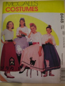 McCall's 8448 Costumes Pattern Size 12,14,16,18 Poodle skirt petticoat soda fountain