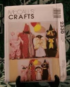 McCall's Crafts Pattern 2330 Doll Costumes for 60cm and 90cm Witch, Angel, Clown, Bunny