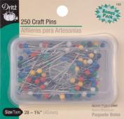 Dritz 250-Piece Craft Pins, 4.4cm