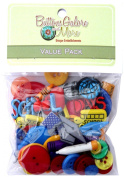 Buttons Galore 50-Value Pack School Button