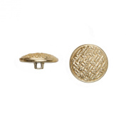 C & C Metal Products 5037 Weave Metal Button, Size 30 Ligne, Gold, 36-Pack