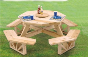 Octagon Picnic Table Woodcraft Project Woodworking Pattern
