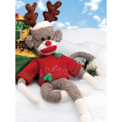 Rudy Holiday Sock Monkey Kit-50cm Long