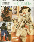 OOP Simplicity Crafts Pattern 8242. 80cm Stuffed Cat Doll & Clothes for Girl & Boy Cat