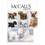 McCALL'S CRAFTS M6620 ~ PLUSH PUPPY DOGS SEWING PATTERN ~ MALTESE, DALMATION, & MORE [6 DOG STYLES]