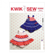 KWIK-SEW PATTERNS K3996OSZ Baby Dresses and Panties Sewing Template, All Sizes