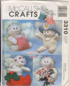McCall Crafts Sewing Pattern 3310 - Use to Make - Stuffed 23cm Angel Hugs Holiday Dolls