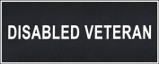 """""""Disabled Veteran"""" Medium nylon hook and loop patches by Dean & Tyler."""