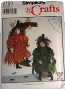Simplicity 9193 Pattern Crafts 41cm Witch Size One
