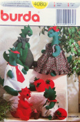 Burda 4080 Dinosaur Dolls and Clothes Sewing Pattern, Out of Print