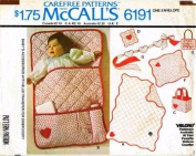 McCall's 6191 Vintage Sewing Pattern Baby Quilt Bunting Bag Pin Cushion Door Sign Crib Toy
