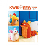KWIK-SEW PATTERNS K3994OSZ Door Stops Sewing Template, One Size Only