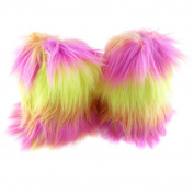 ECOSCO One Pair 20cm Women Lady WARM SOFT cosy FUZZY Fashion Faux Fur Leg Warmers Boots Cuffs Cover Colourful