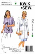 Kwik Sew Ladies Lab Coat & Top Pattern By The Each