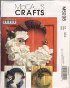 McCall Craft Sewing Pattern 5205 - Use to Make - Seasonal Door Decorations - Santa, Snowman, Witch