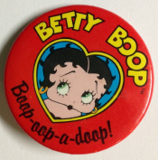 "BETTY BOOP ""Boop-Oop-a-Doop!"" Pin Back Button OFFICIALLY licenced KING FEATURES"