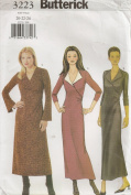 Butterick B3223, Misses' Dress, Size 20-24, OOP
