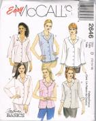 Easy McCalls Fashion Blouses 2646