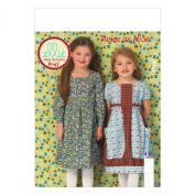 KWIK-SEW PATTERNS K0147 Girls' Dresses Sewing Template, All Sizes