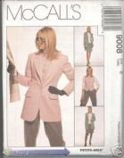 McCall's 9008 Misses' Pattern Lined Jacket, Lined Vest, Skirt & Pants