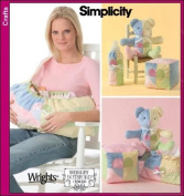 Simplicity 4075 Sewing Pattern Shirley Botsford Baby Accessories Carrier Blocks Bottle Warmer