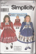 Simplicity 9847 Size AA 3,4,5,6 Child's Dress & Jacket Plus Doll Clothes Pattern for 46cm Doll.