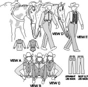 Suitability 3790 Womens Western Show Shirts and Pants Equestrian Sewing Pattern
