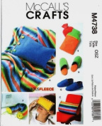 McCALL'S M4738 (4738) ~ Fleece Gift Items and Slippers Sewing Pattern