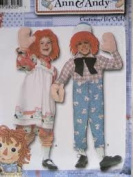 Simplicity 4471 Raggedy Ann & Andy Costumes for Children Size BB