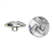 C & C Metal Products 5035 4 Dual Lines Metal Button, Size 30 Ligne, Nickel, 36-Pack