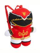 Power Ranger Kawaii Plush Doll Backpack 41cm Costume Bag - RED Ranger