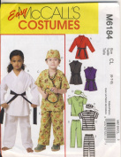McCall Sewing Pattern 6184 - Use to Make - Child's Costumes - Scrubs, Karate Outfit - Sizes 6, 7, 8