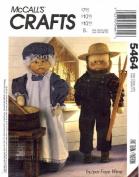 McCall's 5464 Crafts Sewing Pattern Grandpa Grandma Dolls Clothes
