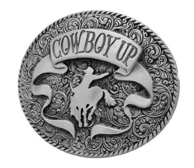 Cowboy Up Rodeo Western Southern Horse Oversized Belt Buckle