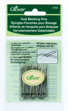Clover 3163 Fork Blocking 40 Count U-Pins, 4.4cm