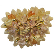 Rhinestone Brooches BW-101-02 Beaded Brooch with Pin