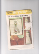 Holly Hobbie Vintage Embroidery Picture & Pillow Doll Sewing Pattern Simplicity 6248