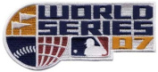 2007 Official World Series MLB Baseball Jersey Patch - Boston Red Sox over Rockies