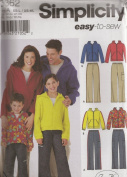 Simplicity 5362, Child', Teen's, Misses' and Men's Pants and Hooded Sweatsuit, Size XS-L and XS-XL, OOP
