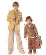 BURDA 9671 BOYS Sports Jacket & Pants (SIZE 3-10) SEWING PATTERN