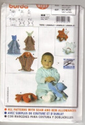Burda 9731 Craft Pattern, Baby Toys, Six Animals Bears Bunnies, Dogs